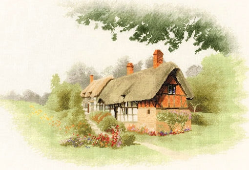 Anne Hathaway's Cottage Cross Stitch Kit, John Clayton Heritage Crafts