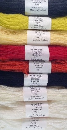 Appletons Tapestry Wool - Brights, 10m Skeins 991B-998