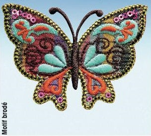 Butterfly Motif, Embroidered Butterfly Embellishment -Prym 926384