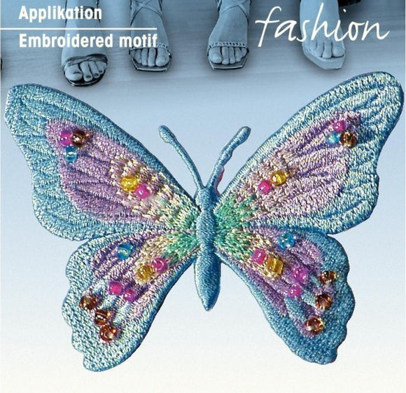 Butterfly Motif, Embroidered Butterfly Embellishment -Prym 926164
