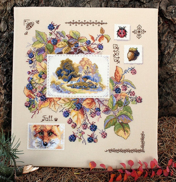 Autumn Sampler Cross Stitch Kit, Merejka K-131