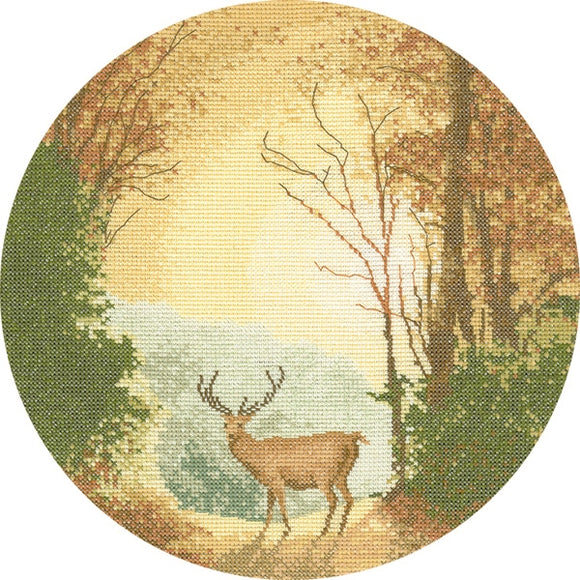 Autumn Light Cross Stitch Kit, John Clayton Circles Heritage Crafts