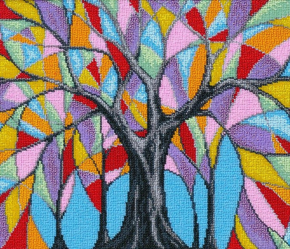 Bead Embroidery Kit Fairytale Tree Bead Work Embroidery Kit VDV