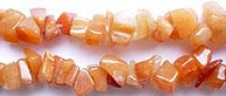 Gemstone Beads - Aventurine Chips - Red 56185