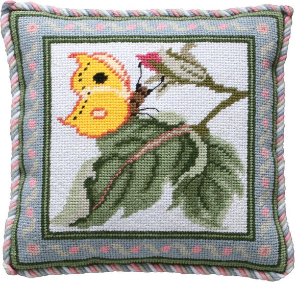 Beth Russell Needlepoint Tapestry Kit, Rose Garden Mini Butterfly