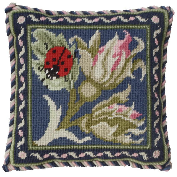 Beth Russell Needlepoint Tapestry Kit, Rose Garden Mini Ladybird -Blue