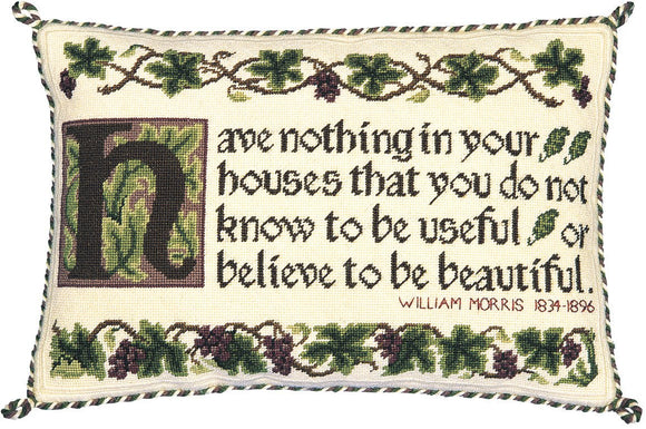 Beth Russell Needlepoint Tapestry Kit, William Morris Quote Sampler