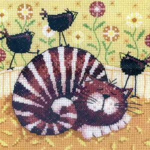 Birds of a Feather Cross Stitch Kit , Heritage Crafts -Karen Carter