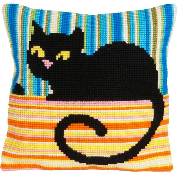 Black Cat CROSS Stitch Tapestry Kit, Collection D'Art CD5187