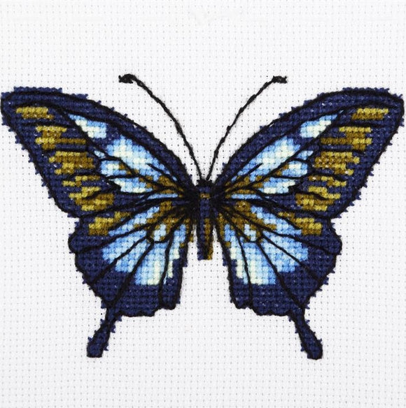 Blue Butterfly Cross Stitch Kit, VDV TM-0215