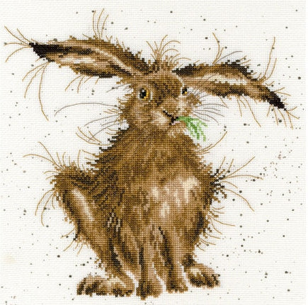 Cross Stitch Kit Hare Brained, Hannah Dale Wrendale Designs XHD49