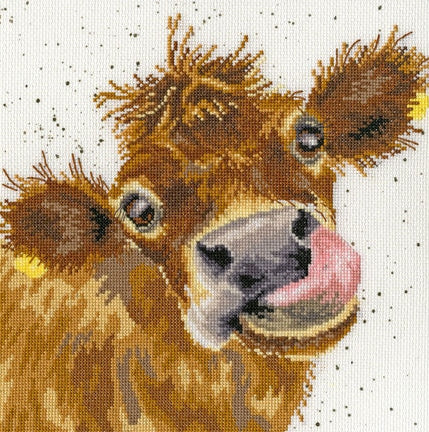 Cross Stitch Kit Moo, Hannah Dale Wrendale Designs XHD48