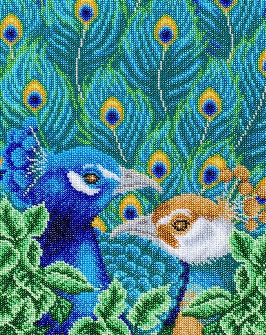 Bright Birds, Peacock Bead Embroidery Kit, Bead Work Kit VDV, TN-1047