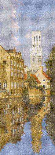 Bruges Cross Stitch Kit, John Clayton Internationals, Heritage Crafts