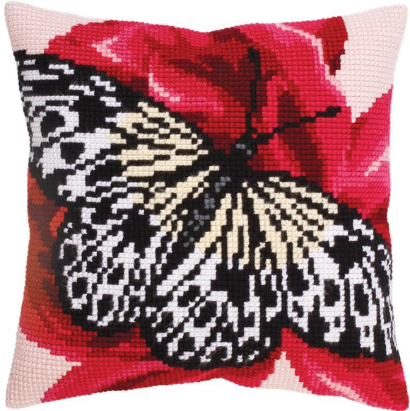 Butterfly Graphic I CROSS Stitch Tapestry Kit, Collection D'Art CD5310