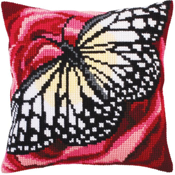 Butterfly Graphic II CROSS Stitch Tapestry Kit, Collection D'Art CD5311