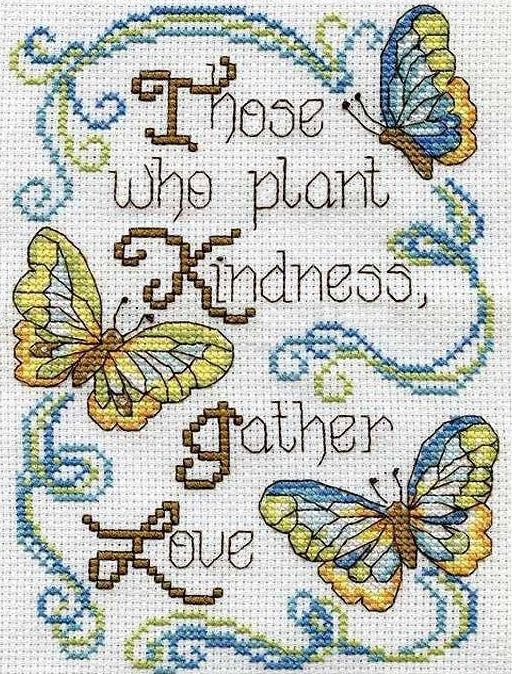 Butterfly Kindness Cross Stitch Kit, Design Works 2894
