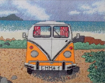 Camper Van Counted Cross Stitch Kit, Emma Louise Art Stitch