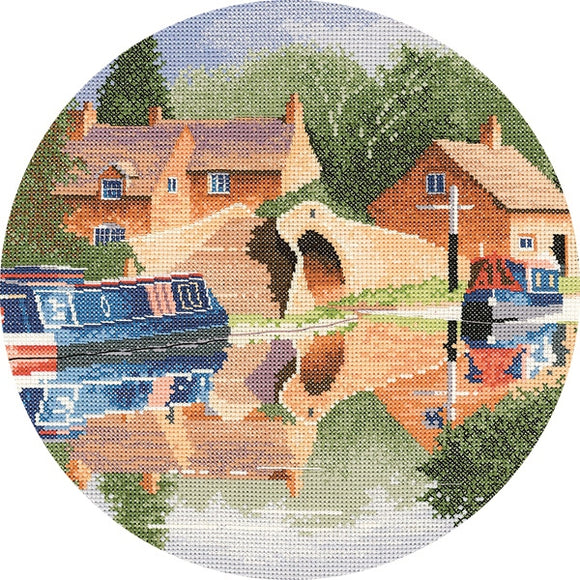 Canal Reflections Cross Stitch Kit, John Clayton Circles, Heritage Crafts