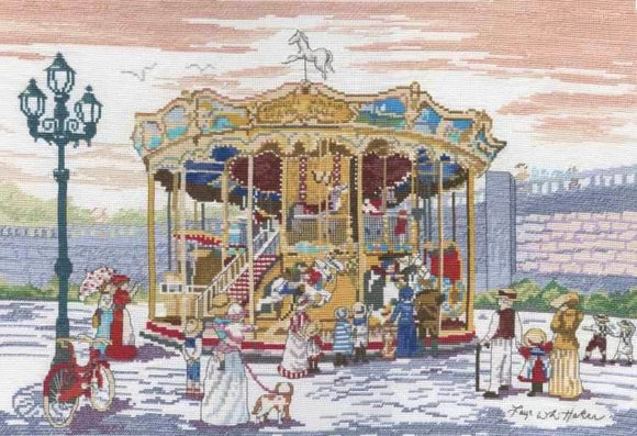 Carousel at Montmartre Cross Stitch Kit, All Our Yesterdays FW46