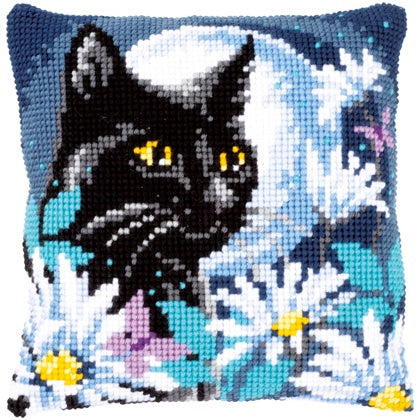 Cat in the Night CROSS Stitch Tapestry Kit, Vervaco pn-0148218