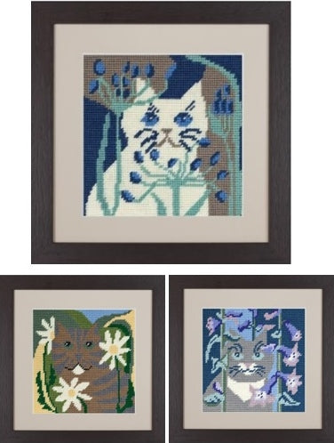 Cats Tapestry Picture Kits, Cleopatra's Needle - Set of 3