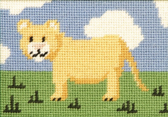 Larry Lion Cub Childrens Starter Tapestry Kit -Cleopatras Needle