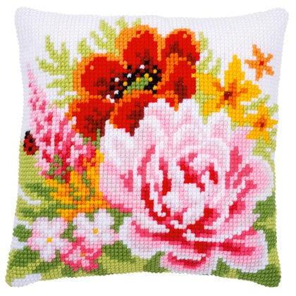 Colourful Flowers CROSS Stitch Tapestry Kit, Vervaco pn-0184990
