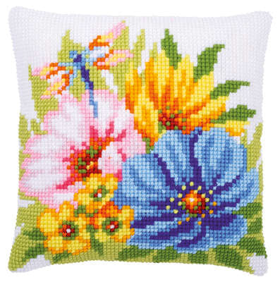 Colourful Spring Flowers CROSS Stitch Tapestry Kit, Vervaco pn-0184985