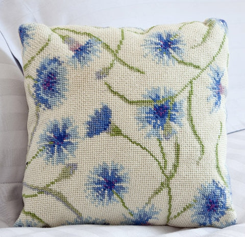 Cornflower Tapestry Kit Cushion / Herb Pillow, Cleopatra's Needle HP54
