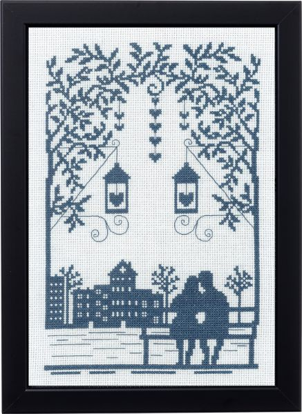 Couple Silhouette Cross Stitch Kit, Permin 91-9367