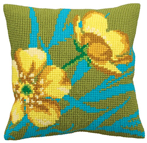 Golden Button CROSS Stitch Tapestry Kit, Collection D'Art CD5138