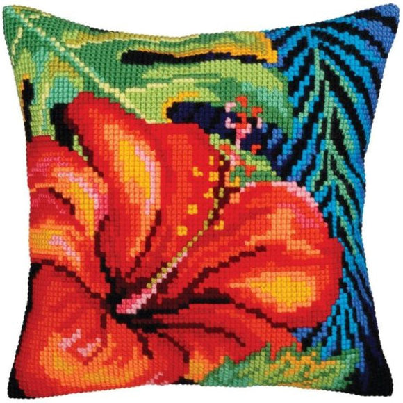 Hibiscus Flower CROSS Stitch Tapestry Kit, Collection D'Art CD5360