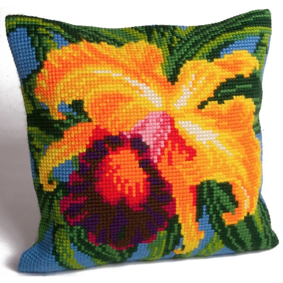 Paradise Orchid CROSS Stitch Tapestry Kit, Collection D'Art CD5008
