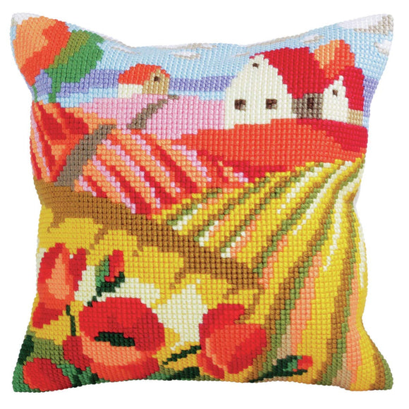 Poppy Field II CROSS Stitch Tapestry Kit, Collection D'Art CD5321