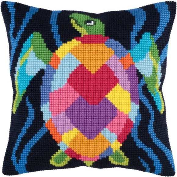 Sea Mosaic Turtle CROSS Stitch Tapestry Kit, Collection D'Art CD5346