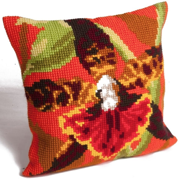 Tiger Orchid CROSS Stitch Tapestry Kit, Collection D'Art CD5001