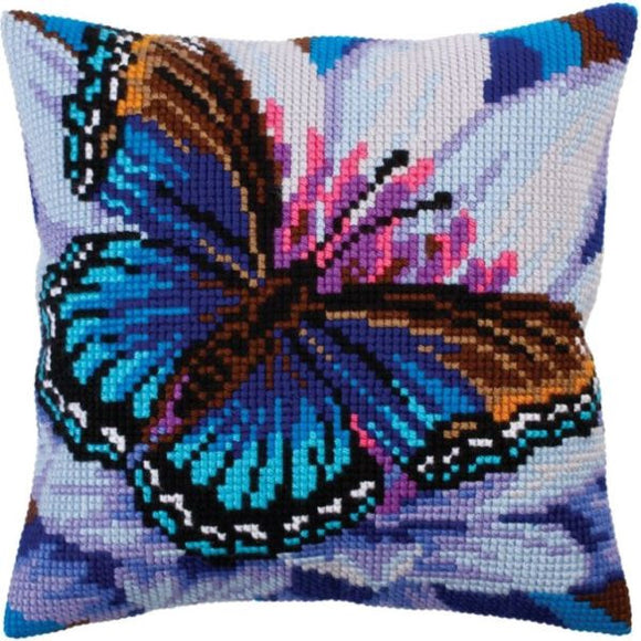 Turquoise Butterfly II CROSS Stitch Tapestry Kit, Collection D'Art CD5313