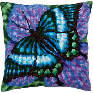 Turquoise Butterfly I CROSS Stitch Tapestry Kit, Collection D'Art CD5312