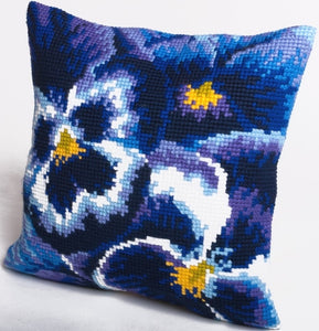 Winter Pansy CROSS Stitch Tapestry Kit, Collection D'Art CD5099