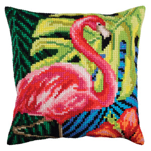 Pink Flamingo CROSS Stitch Tapestry Kit, Collection D'Art CD5361