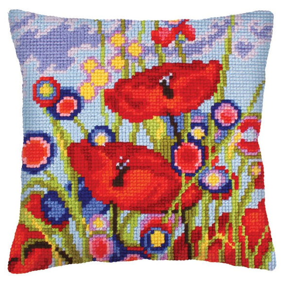 Red Poppies I CROSS Stitch Tapestry Kit, Collection D'Art CD5233