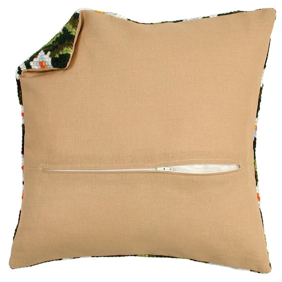 Cushion Back with Zip, 45 x 45cm - Rustic Ecru PN-0021054