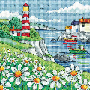 Daisy Shore Cross Stitch Kit, Heritage Crafts -Karen Carter