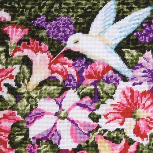Hummingbird Tapestry Kit, Needlepoint Starter, Design Works 2520