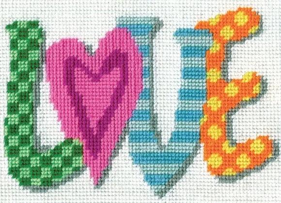 Love Tapestry Kit, Needlepoint Starter, Design Works 2568