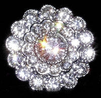 Diamante Button Crystal Embellishment, Constellation 4061 -26mm