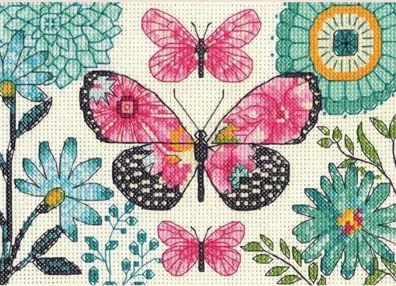 Butterfly Dreams Counted Cross Stitch Kit, Dimensions D70-65178