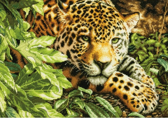 Leopard in Repose Counted Cross Stitch Kit, Dimensions D70-35300