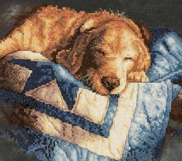 Snooze PRINTED Cross Stitch Kit, Dimensions D03220
